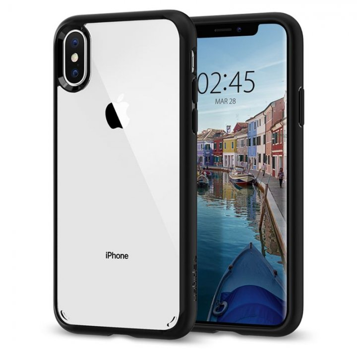 Spigen Ultra Hybrid, matte black - iPhone XS/X