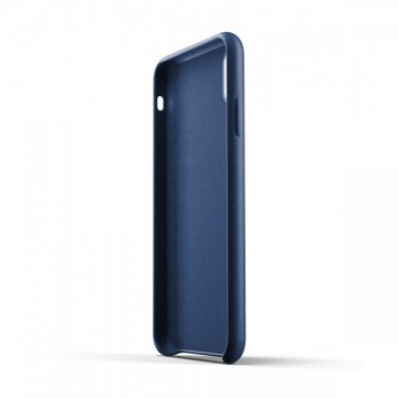 MUJJO Full Leather Case pro iPhone XS Max - modrý