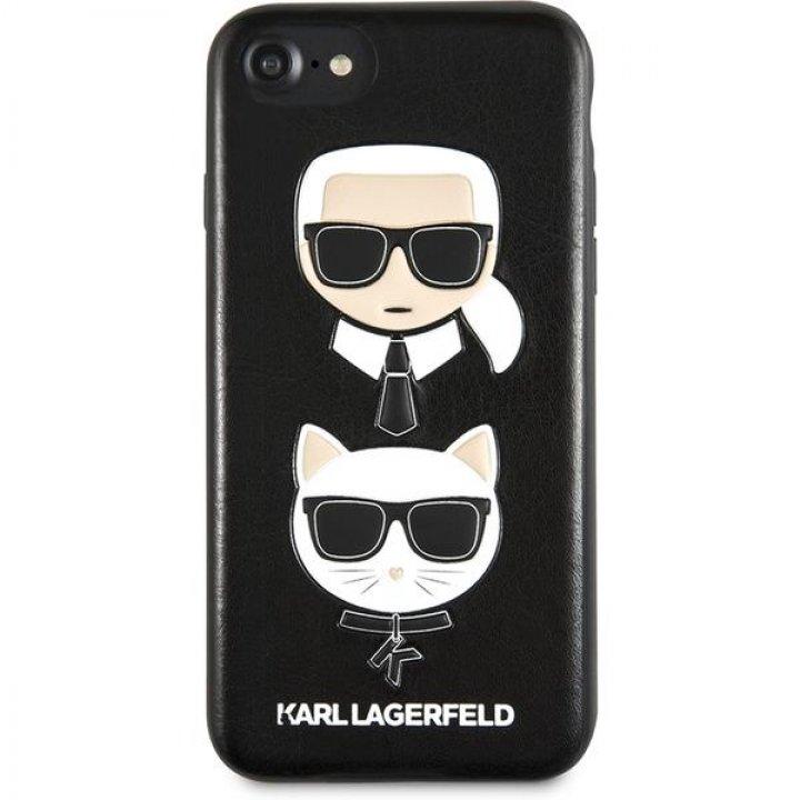 Karl Lagerfeld Karl and Choupette pouzdro iPhone 7/8/SE2020 černé