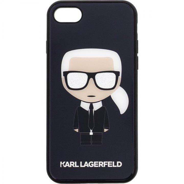 Karl Lagerfeld Glitter Iconic Body pouzdro iPhone X/XS černé