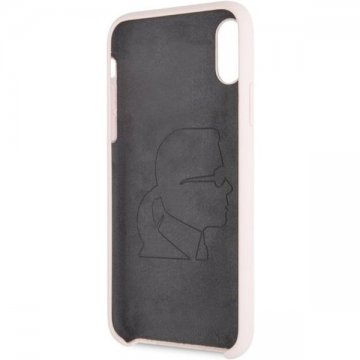 Karl Lagerfeld Iconic Bull Body silikonové pouzdro iPhone X/XS růžové