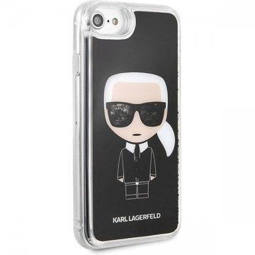 Karl Lagerfeld Iconic Glitter pouzdro iPhone 7/8/SE2020 černé