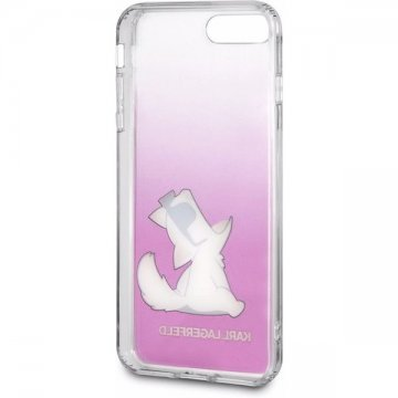 Karl Lagerfeld Fun Choupette Glasses Hard Case iPhone 7/8 Plus růžové