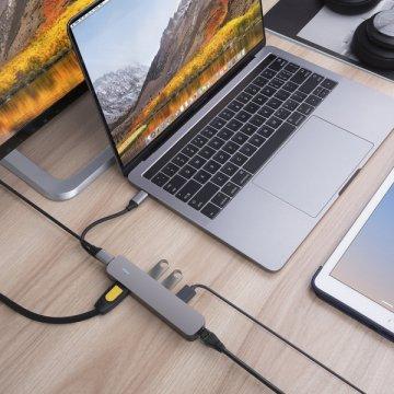 HyperDrive 6v1 USB-C Hub s 4K HDMI - Space Gray