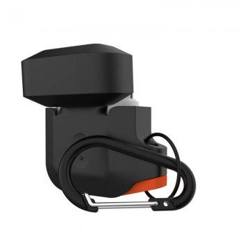 UAG Silicone case, black/orange - AirPods