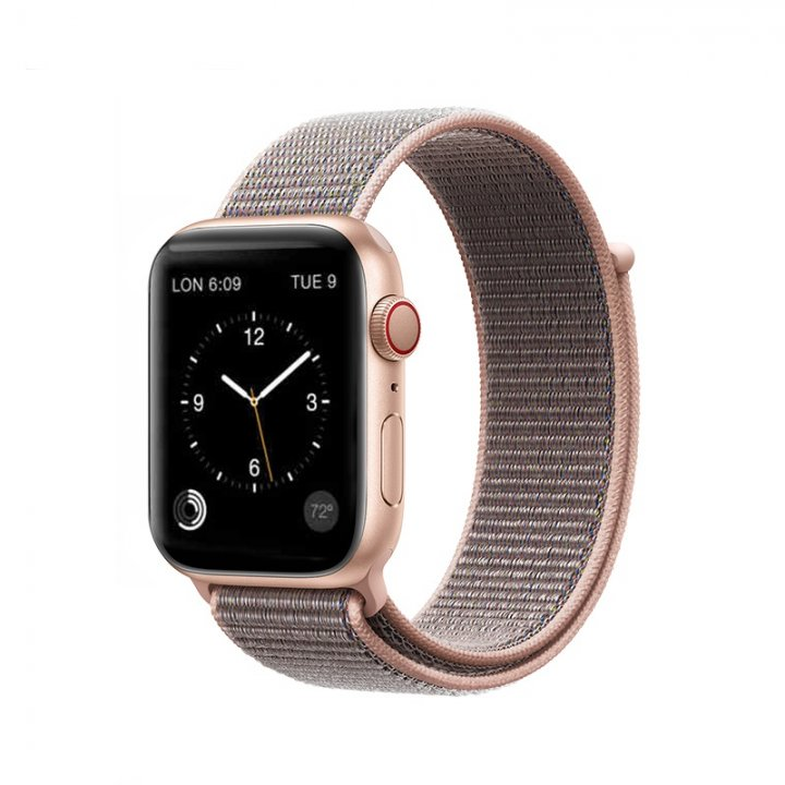 Coteetci Apple Watch provlékací sportovní řemínek 42/44mm Pink Sand