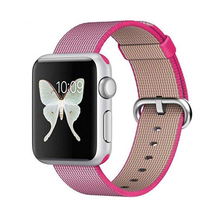 Coteetci Apple Watch provlékací sportovní řemínek s přezkou 42/44mm Pink