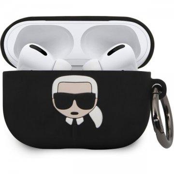 Karl Lagerfeld silikonový kryt pro Airpods Pro černý