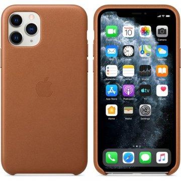 Pouzdro Apple kožené pro iPhone 11 Pro sedlově hnědé