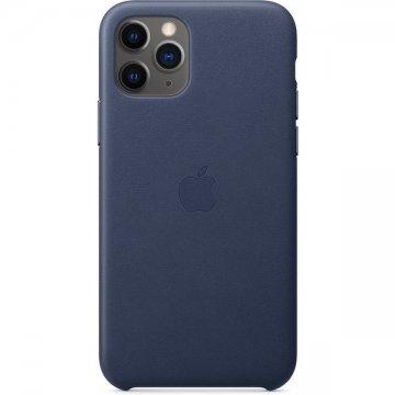 Pouzdro Apple kožené pro iPhone 11 Pro Max půlnočně modré