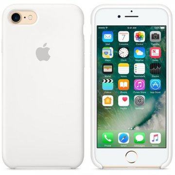 Apple silikonový kryt iPhone 7/8/SE2020 bílý