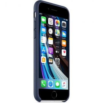 Pouzdro Apple kožené iPhone 7/8/SE2020 půlnočně modré