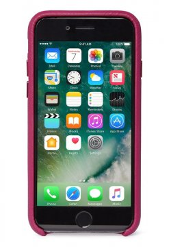 Decoded Leather Back Cover, fuchsia - iPhone SE2020/8/7