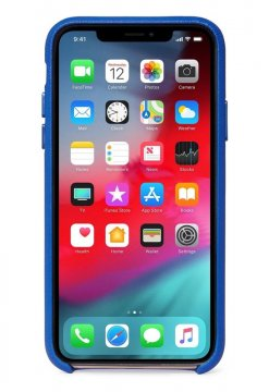 Decoded Leather Back Cover, blue - iPhone X/XS