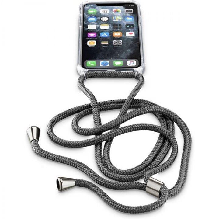 Cellularline Neck-Case - obal se šňůrkou na krk - iPhone 11 Pro černý