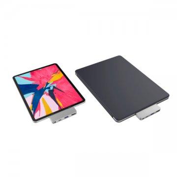 HyperDrive DUO 7 ve 2 USB-C Hub na MacBook Pro / Air  - šedý
