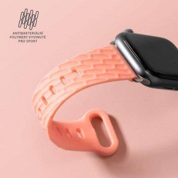LAUT Active 2.0 – sportovní řemínek na Apple Watch 42/44 mm - korálová
