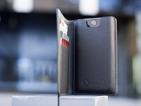 DannyP kožená peněženka na iPhone 8/7/6/SE2020 černá