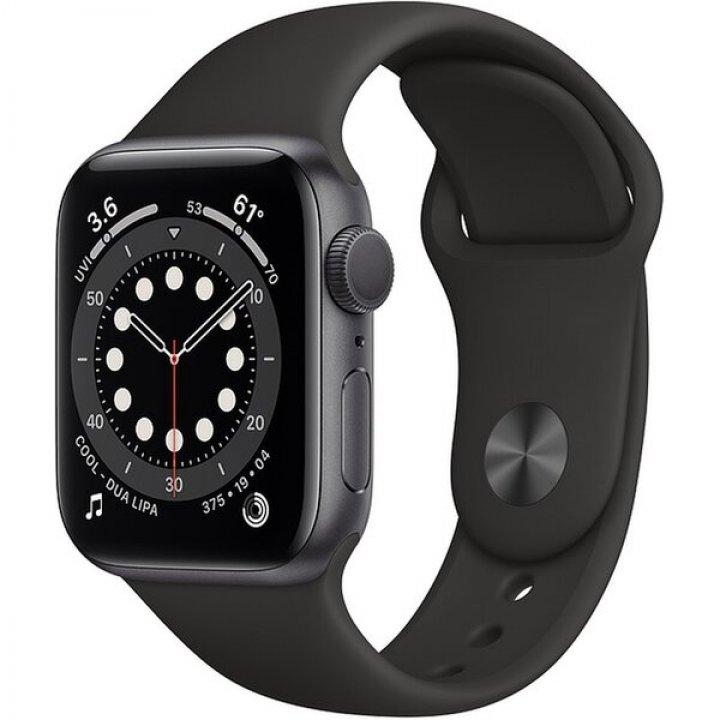 Apple Watch Series 6 44mm vesmírně šedý hliník s černým sportovním řemínkem