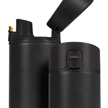 HidrateSpark – nerezová chytrá lahev, 620 ml, Bluetooth tracker, černá