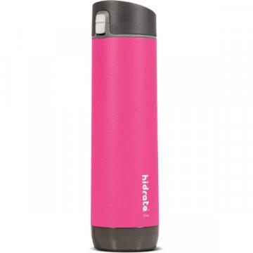 HidrateSpark – nerezová chytrá lahev, 620 ml, Bluetooth tracker, růžová