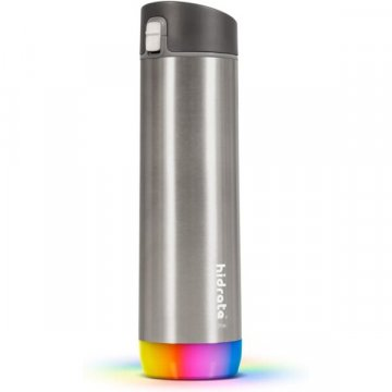 HidrateSpark – nerezová chytrá lahev, 620 ml, Bluetooth tracker, nerezová