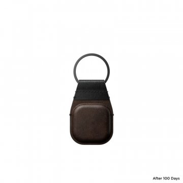 Nomad Leather Keychain, brown - Airtag