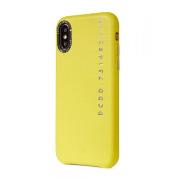 Decoded Leather Back Cover, yellow - iPhone X/XS