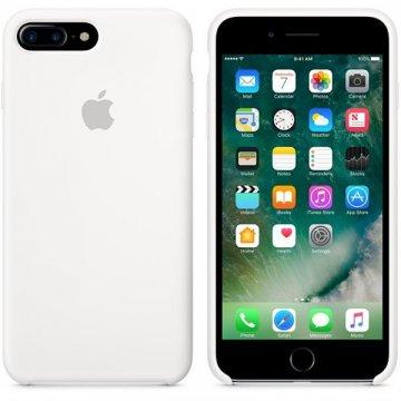 Apple silikonový kryt iPhone 8 Plus / 7 Plus bílý