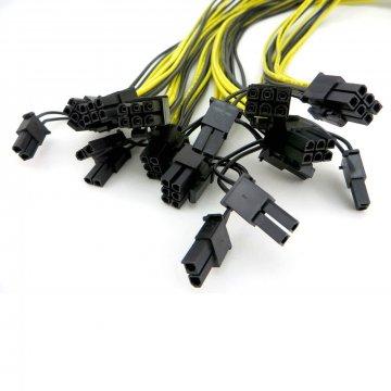 16WG kabel PCI-Express 8pin (6+2) kabel ke zdroji, 90cm
