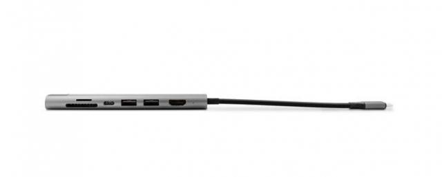 Epico HUB Multimedia 3 - USB-C PD 3.0, 2xUSB 3.0, HDMI 4K@30Hz, Ethernet, SD, šedá