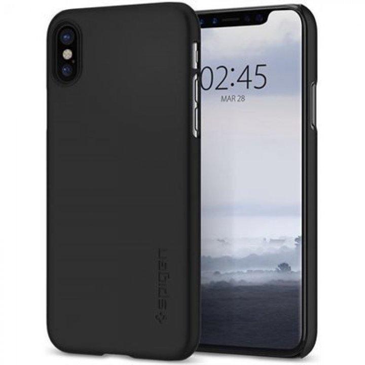 Spigen Thin Fit kryt Apple iPhone X černý