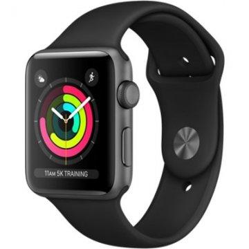 Apple Watch Series 3 42mm vesmírně šedý hliník s černým sportovním řemínkem (2017)