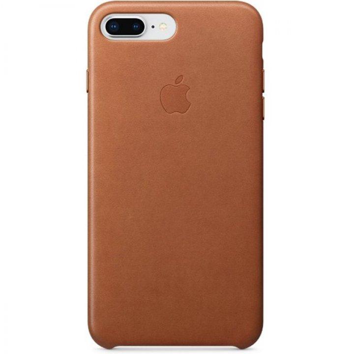 Pouzdro Apple kožené iPhone 8 Plus / 7 Plus sedlově hnědé
