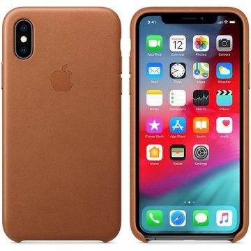 Pouzdro Apple kožené pro iPhone XS sedlově hnědé